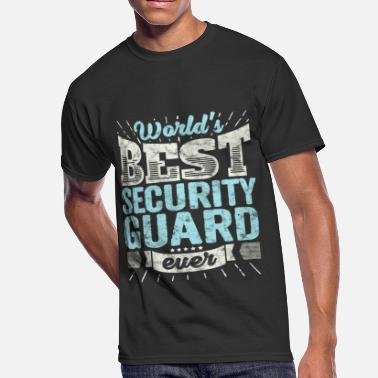 Security Funny Worlds Best Security Guard Ever Funny Gift - Men's 50/50 T-Shirt