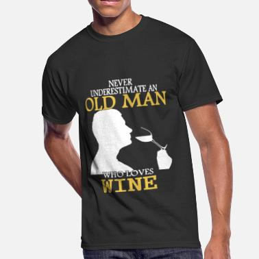 Old Wine Wine Old Man Shirt - Men's 50/50 T-Shirt