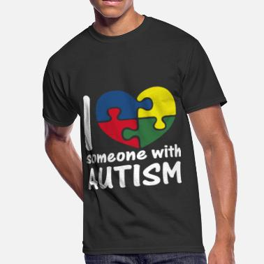 I Love Someone With Autism I Love Someone With Autism - Men's 50/50 T-Shirt
