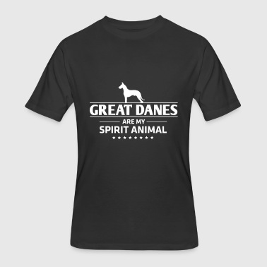 Great Anime Great Dane Design Great Danes Are My Spirit Animal - Men's 50/50 T-Shirt