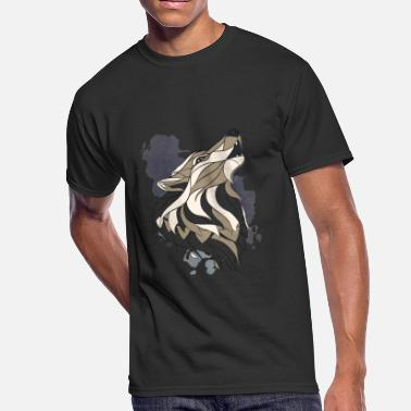 Howl Kids Howling Wolf: Art, Abstract, Graphic Design - Men's 50/50 T-Shirt