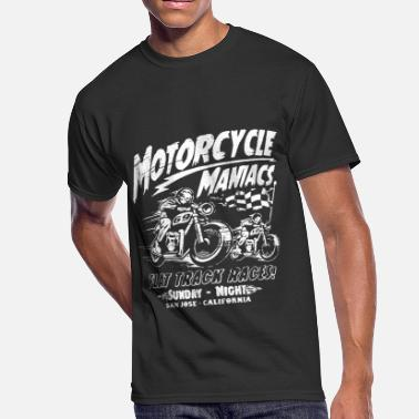 Tracks Motorcycle Maniacs Mens S 5Xl Flat Track Races San - Men's 50/50 T-Shirt