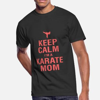 Pink Karate Belt Funny Karate Design Keep Calm Im A Karate Mom Pink Light - Men's 50/50 T-Shirt