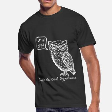 Off Irritable Owl Syndrom tee funny birthday gift - Men's 50/50 T-Shirt