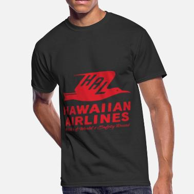Retro Hawaiian Retro Vintage Hawaiian Airlines BOAC TWA ha - Men's 50/50 T-Shirt