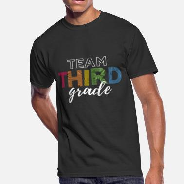 Team Third Grade Teacher Team Third Grade Funny Third Grade 3rd Teacher Appreciation Gift - Men's 50/50 T-Shirt