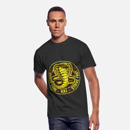 Cobra T-Shirts - Cobra strike hard kai strike fast no mercy karate - Men's 50/50 T-Shirt black