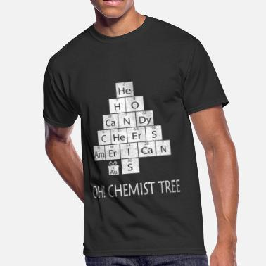 Chemist Jokes Oh Chemist Tree Silly Chemistry Joke - Men's 50/50 T-Shirt