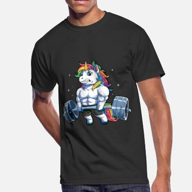 Weightlifting Unicorn Weightlifting T shirt Fitness Gym Deadlift Rainbow Gifts Party Men Women - Men's 50/50 T-Shirt
