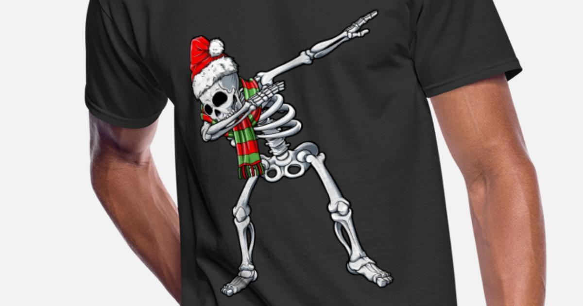 14bd5dae Dabbing Skeleton Santa T shirt Christmas Kids Men's 50/50 T-Shirt |  Spreadshirt