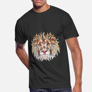 Tribal Lion Ethnic Tribal Lion - Men's 50/50 T-Shirt