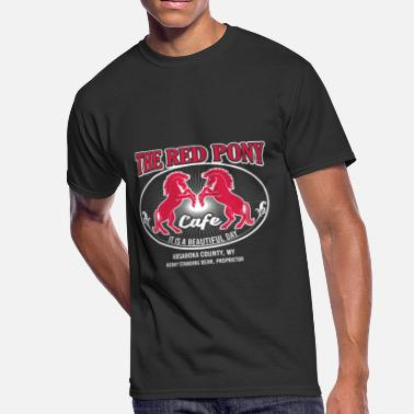 Red County the red pony cafe it is a beautiful day - Men's 50/50 T-Shirt