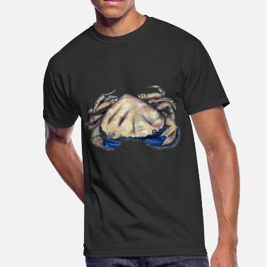 Digital Hand Painted Crab Life - Men's 50/50 T-Shirt