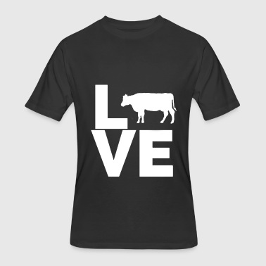 I Love Cows Design - Men's 50/50 T-Shirt