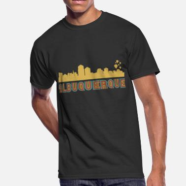 New Mexico Vintage Vintage Style Albuquerque New Mexico Skyline - Men's 50/50 T-Shirt