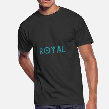 Royal Blue Royal Sky Blue - Men's 50/50 T-Shirt