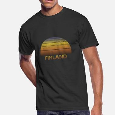 Souvenir Family Vintage Sunset Finland Family Vacation Souvenir - Men's 50/50 T-Shirt