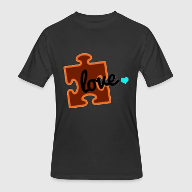 Autism Puzzle Autism Awareness Puzzle Piece Autism - Men's 50/50 T-Shirt