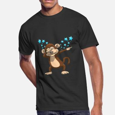 Dab Star Monkey Dab Funny Dabbing Stars - Men's 50/50 T-Shirt