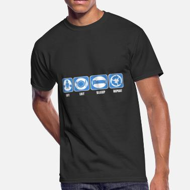 Eat Sleep Lift Lift Eat Sleep Repeat - Men's 50/50 T-Shirt