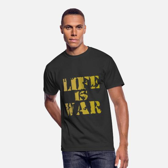 Life Force T-Shirts - life is war - Men's 50/50 T-Shirt black