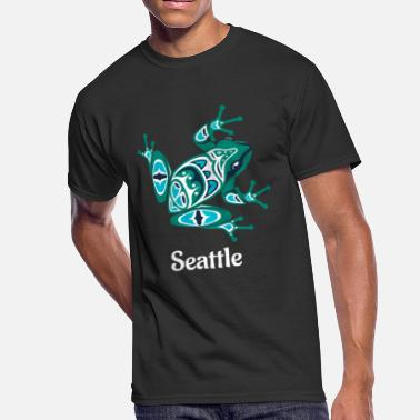 Tlingit Seattle Frog Pacific Northwest Native American - Men's 50/50 T-Shirt