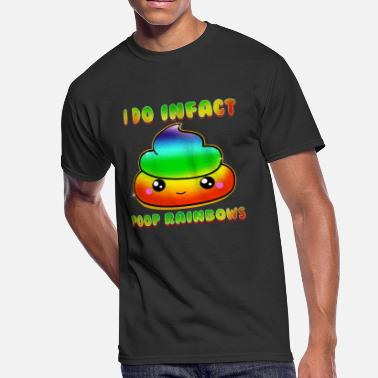 Cute Rainbow Poop Cute & Funny I Do Infact Poop Rainbows - Men's 50/50 T-Shirt