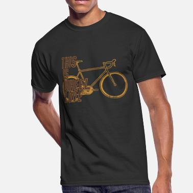 Ironman Race racing bike bicycle race road This is wheel love - Men's 50/50 T-Shirt