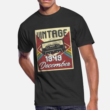 69th Birthday Gift 69th Birthday Gifts Retro Vintage December 1949 - Men's 50/50 T-Shirt