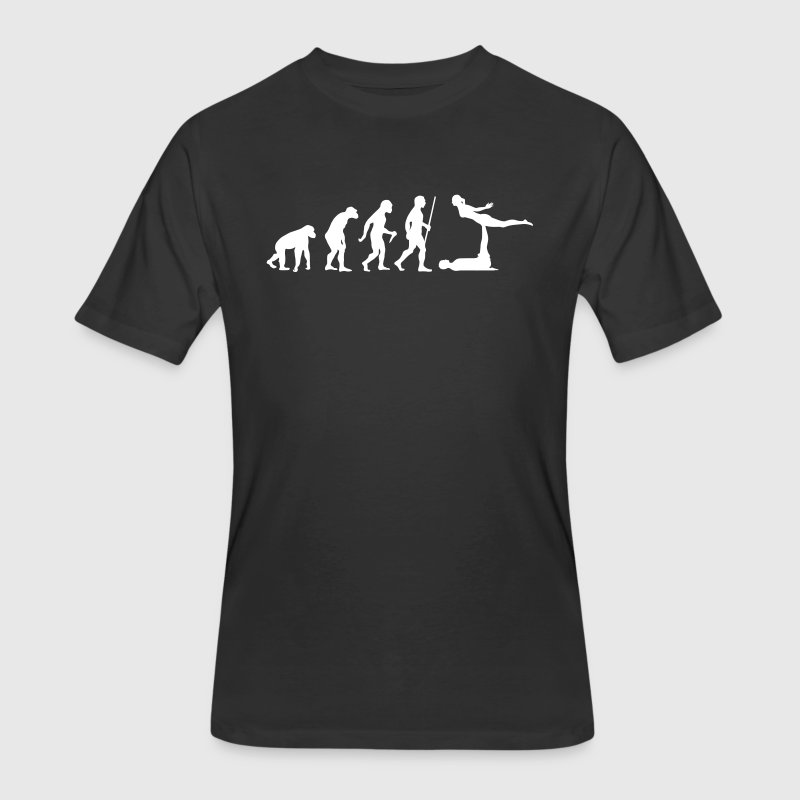 Evolution Acro | Funny Yoga Design - Men's 50/50 T-Shirt