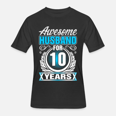 10 Year Awesome Husband for 10 Years - Men's 50/50 T-Shirt