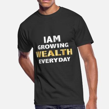Gold Yellow YELLOW GOLD WEALTH T-SHIRT - Men's 50/50 T-Shirt