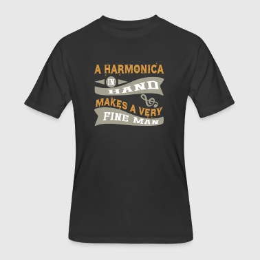 Harmonica Blues A Harmonica in Hand Makes Very Fine Man - Men's 50/50 T-Shirt