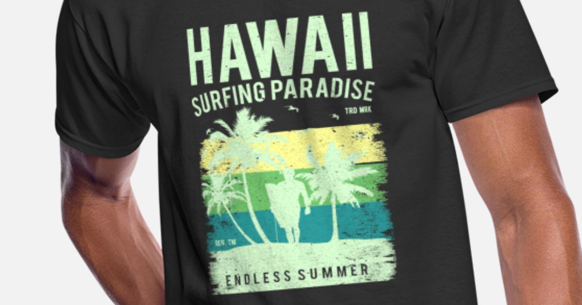 cdef26a79 Hawaii Surfing Camping Summer Beach Aloha Tumblr Men's 50/50 T-Shirt    Spreadshirt