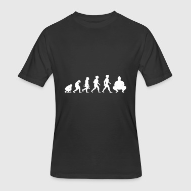 Evolution Sumo Wrestling Wrestler Japan - Men's 50/50 T-Shirt