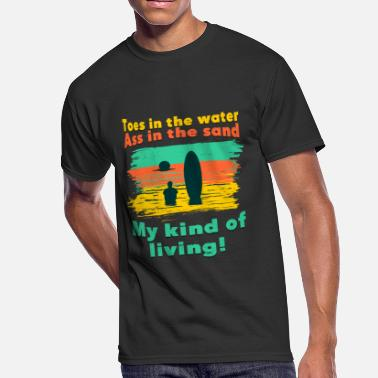 Ass Vacation TOES IN THE WATER ASS IN THE SAND - Men's 50/50 T-Shirt