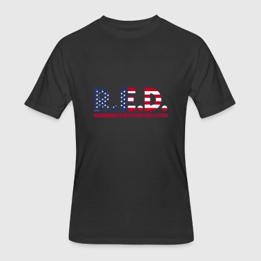 R.E.D - Remember Everyone Deployed - Men's 50/50 T-Shirt