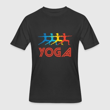 Retro-yoga Retro Yoga Pop Art - Men's 50/50 T-Shirt