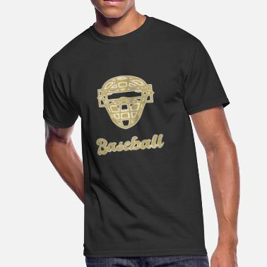 Pitcher Catcher Baseball player. Catcher pitcher mask - Men's 50/50 T-Shirt