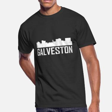 Galveston Texas Galveston Texas City Skyline - Men's 50/50 T-Shirt