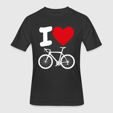 Rochester I love road biking - Men's 50/50 T-Shirt
