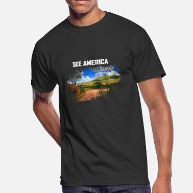 Crater Lake National Park See America The Beautiful American Traveller - Men's 50/50 T-Shirt