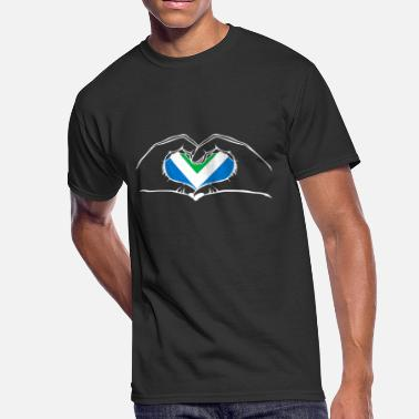 I Heart Vegan I love vegan heart - Men's 50/50 T-Shirt