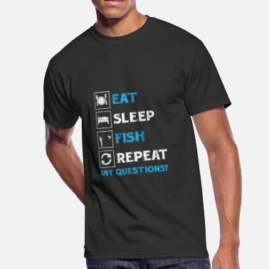 Repeat Funny Fisher! Angler! Repeat! funny! - Men's 50/50 T-Shirt