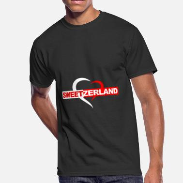 Neutral Swiss Sweetzerland Swiss - Men's 50/50 T-Shirt