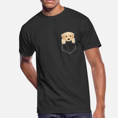 Dogs Yellow Lab In My Pocket Cute Dog Owner - Men's 50/50 T-Shirt