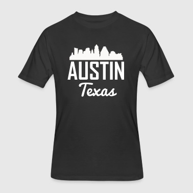 Austin Texas Skyline - Men's 50/50 T-Shirt