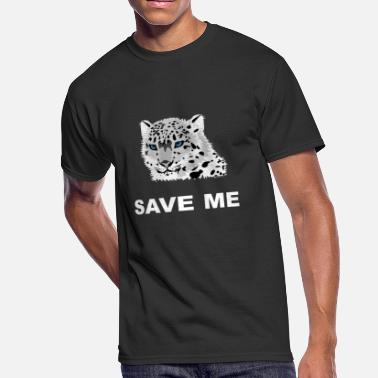 Snow Leopard Animal Welfare Snow Leopard - Men's 50/50 T-Shirt