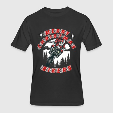 Biker Christmas Biker Santa Merry Christmas Bikers - Men's 50/50 T-Shirt