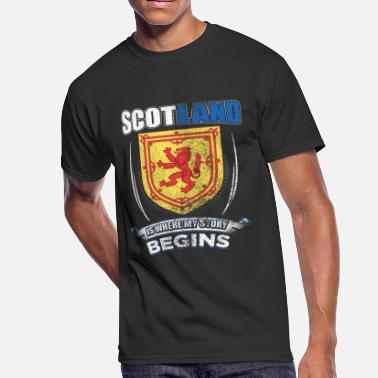 Gaelic Scotland Is Where My Story Begins Gift Idea - Men's 50/50 T-Shirt